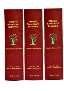 Etheric Sambrani Incense-45 sticks (set of three)
