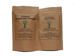 Etheric Dead Sea Mud and Walnut Shell Powder Combo (2X100gm)