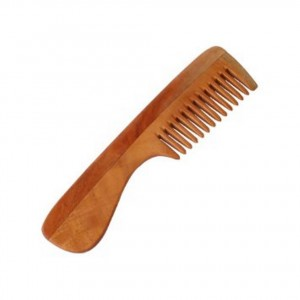 "Etheric Pure Neem Wood Comb -7"" with Handle"